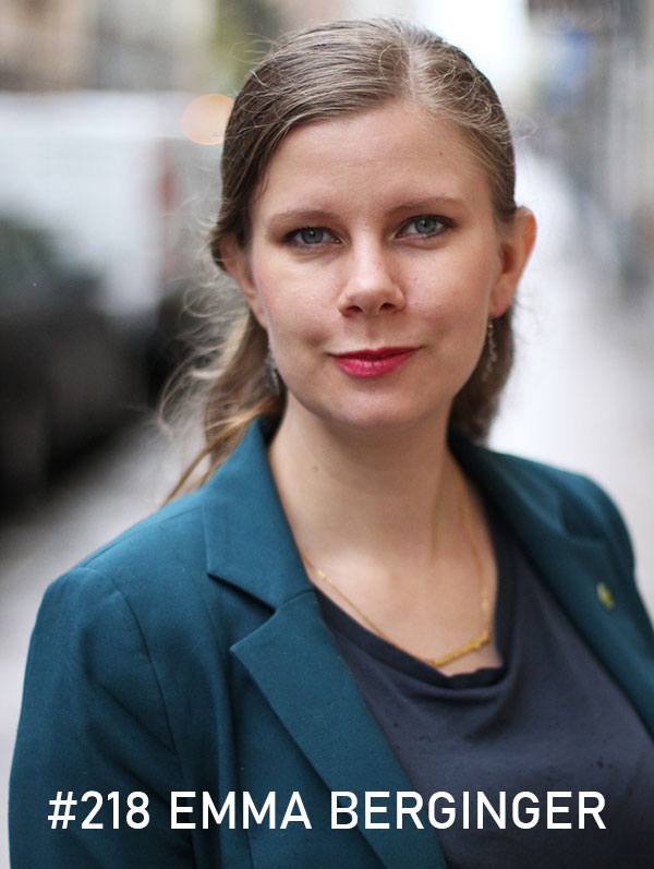 Emma Berginger. Foto: Christian von Essen, hejaframtiden.se